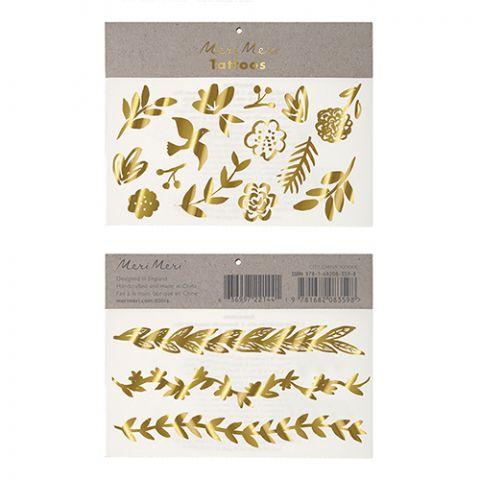 Gold Botanical Tattoos