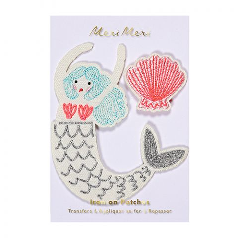 Mermaid Embroidered Patches from Meri Meri :: Baby Bottega