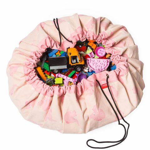 Pink Elephant Toy Bag