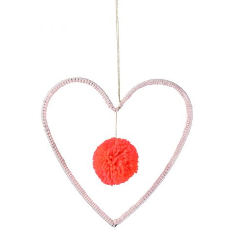 Wire and Wool Heart Decoration