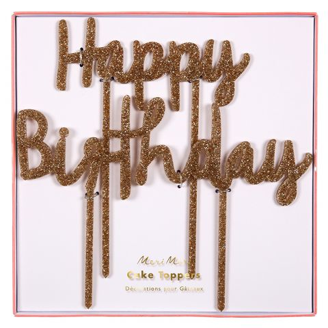 Happy Birthday Decorazione Torta di Meri Meri :: acquista ora su Baby Bottega