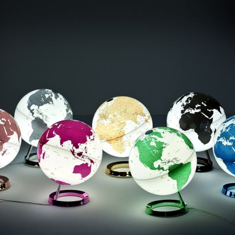 Hot Pink World Globe Table Lamp