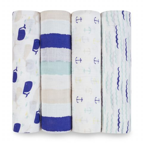 Set 4 Copertine Swaddle High Seas
