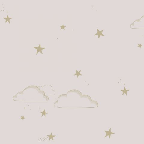 Carta da Parati Starry Sky Pale Rose/Gold