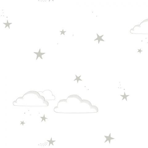 Carta da Parati Starry Sky Silver/White