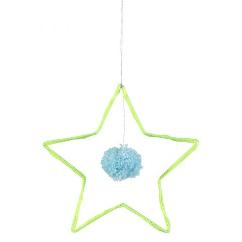 Wire and Wool Star Decoration