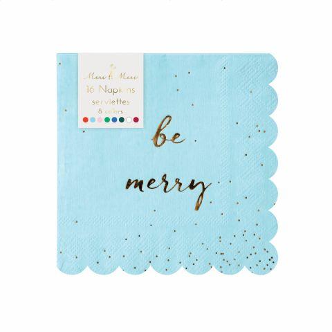 Be Merry Glitter Napkin from Meri Meri :: Baby Bottega