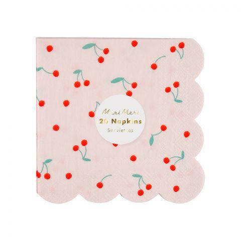 Cherry party napkins from Meri Meri