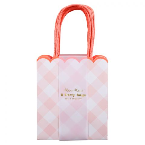 Pink Gingham Party Bags from Meri Meri