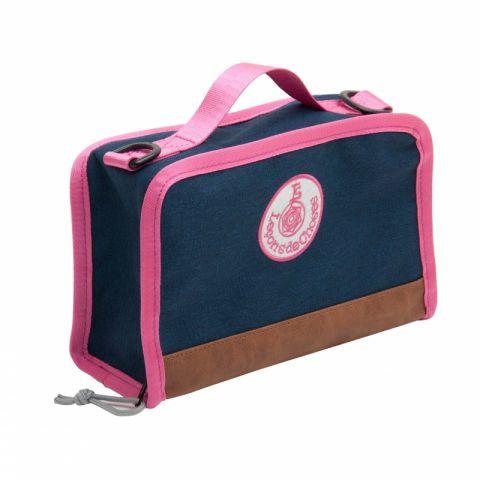 grey pink lunch box
