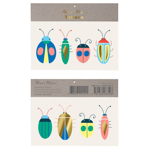 Tatuaggi di insetti, bomboniere per ragazzi di Meri Meri
