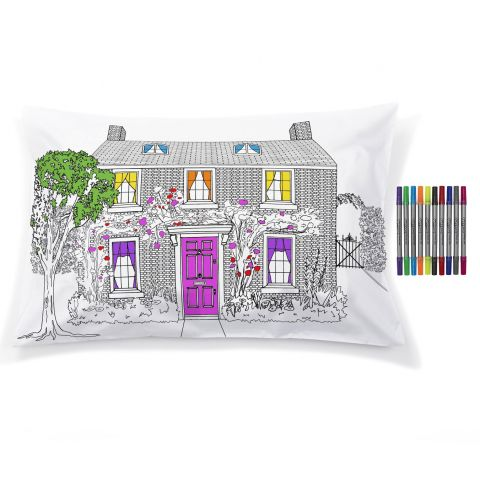 Decorator Doodle Pillowcase from Eat Sleep Doodle  :: Baby Bottega