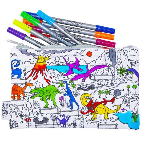 Astuccio da colorare Dinosauri di Eat, Sleep, Doodle :: acquista ora su Baby Bottega