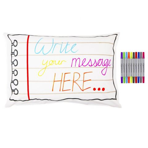 Notepad Doodle Pillowcase from Eat Sleep Doodle :: Baby Bottega