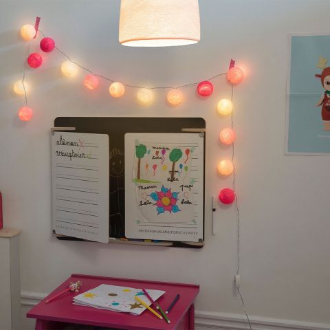 Lucien, battery operated garland lights from La Case de Cousin Paul :: Baby Bottega