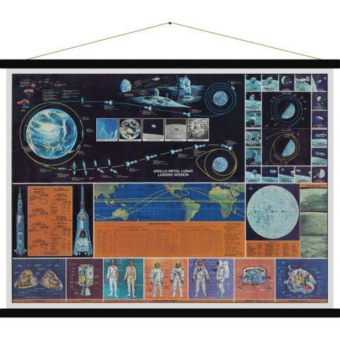 Mission Apollo, vintage poster art :: Baby Bottega
