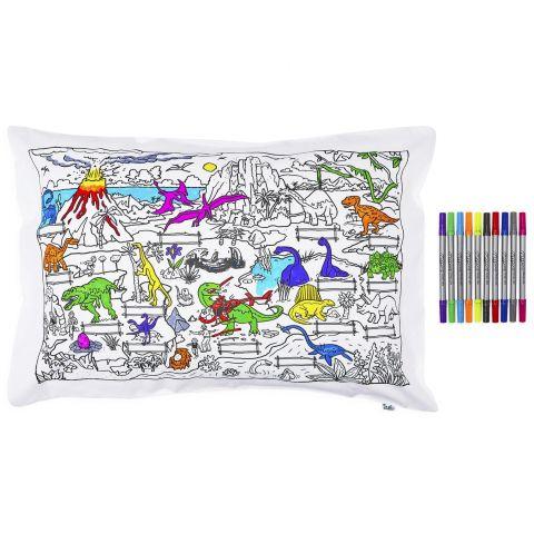 Dinosaur Doodle Pillowcase from Eat Sleep Doodle :: Baby Bottega