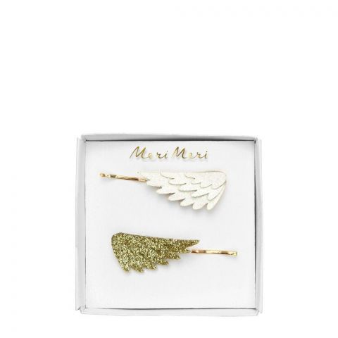 Glitter Wing hair slides from Meri Meri :: Baby Bottega