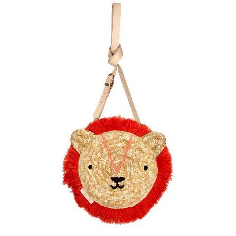 Woven Lion crossbody bag from Meri Meri :: Baby Bottega