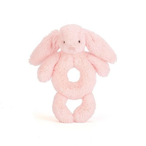 Bashful Pink Bunny Grabber from Jellycat soft toys :: Baby Bottega