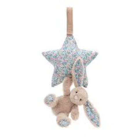 Bloosom Beige Bunny Musical Pull from Jellycat soft toys :: Shop Baby Bottega