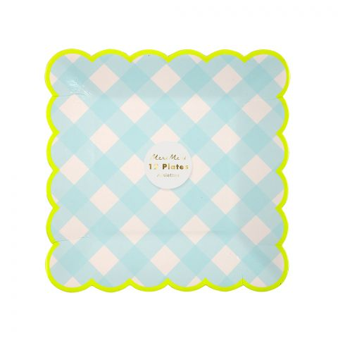 Blue Gingham Party Plates from Meri Meri