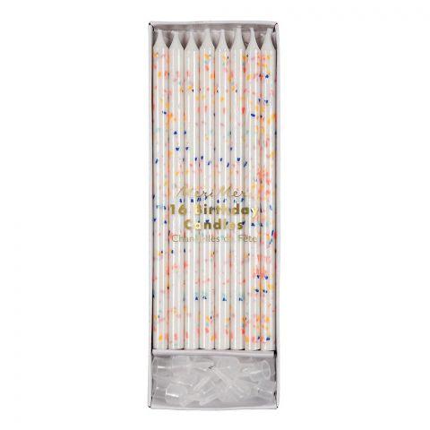 Candele multicolore dalla collezione Meri Meri