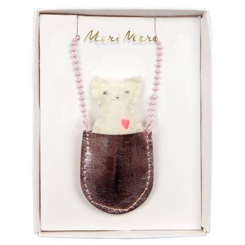 Gatto, Collana con tasca da Meri Meri