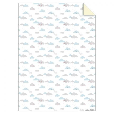 Cloud themed wrapping paper for parties :: Designed for Meri Meri and online at Baby Bottega