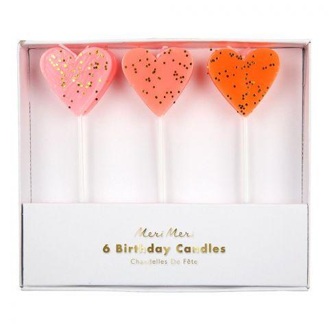 Glitter Heart Candles  from Meri Meri :: Online at Baby Bottega