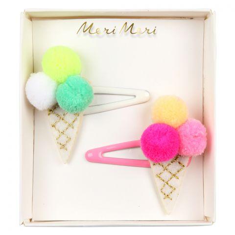 Pom Pom Ice Cream Hair Slides from Meri Meri
