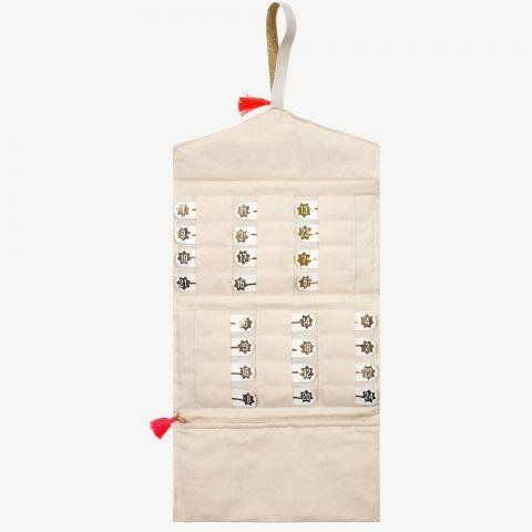 Advent Hair Clip Calendar Jewelry Roll from Meri Meri