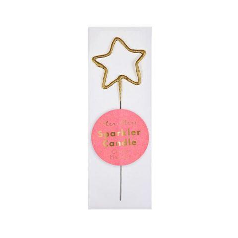 Sparkle Star Gold Mini Candela di Meri Meri :: acquista ora su Baby Bottega