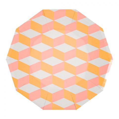 Blush Cubic, Piatti di carta :: Meri Meri