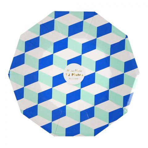 Aqua Cubic, Piatti di carta :: Meri Meri