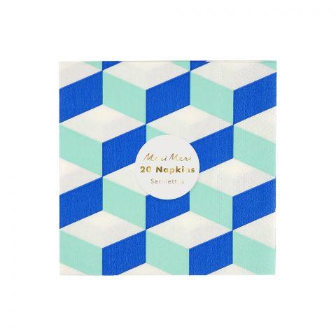 Aqua Cubic, Tovaglioli in carta dal Meri Meri