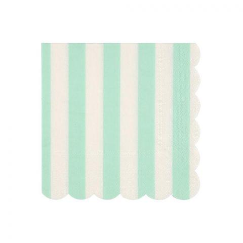 Mint Stripe Paper Napkins from the Meri Meri Collection