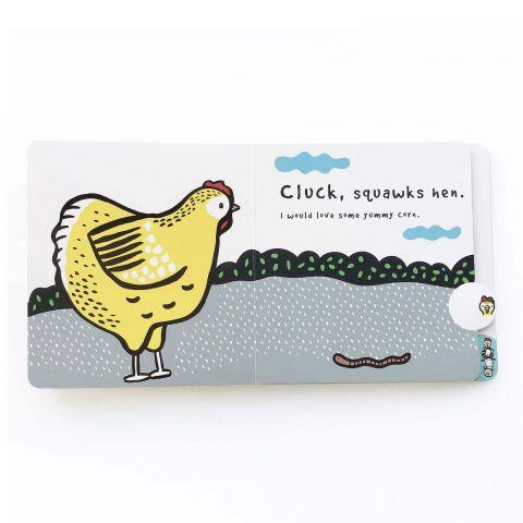 Moo, Cluck, Baa! Un libro di giocchi di Wee Gallery :: Design Bottega