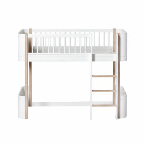 Mini Letto a soppalco basso di Oliver Furniture :: Baby Bottega