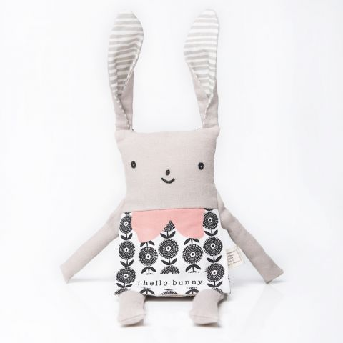 Organic Bunny Flippy Friend, a soft toy from Wee Gallery :: Design Bottega