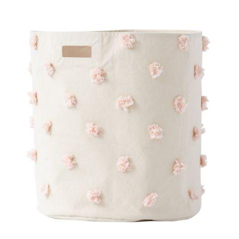 Pom Pom Hamper in rosa di Pehr è un contenitore morbido :: Design Bottega