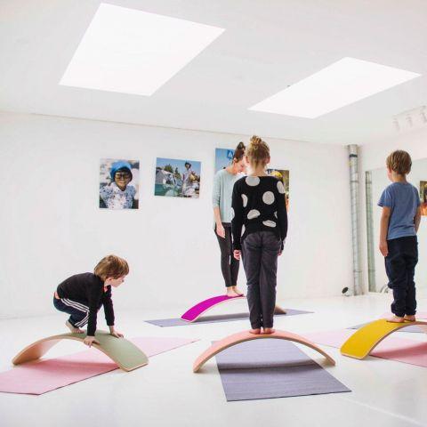 Balancing Board Pro in Mustard from Wobbel : Indoor Playground : Baby Bottega