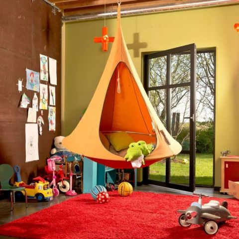 Hanging Tent in color mango from Cacoon World Bebo :: Baby Bottega