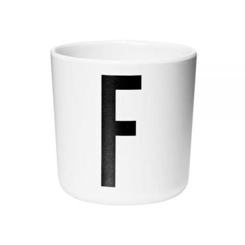 Tazza melamina personalizzata F di Design Letters :: acquista su Baby Bottega