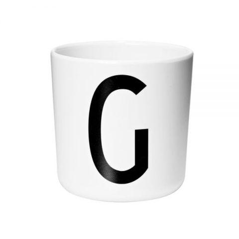 Tazza melamina personalizzata G di Design Letters :: acquista su Baby Bottega