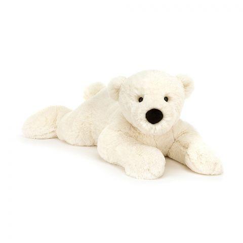 Perry Polar Bear Lying from Jellycat :: Baby Bottega