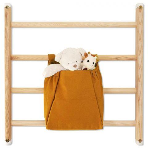 Borsa per barre da parete in marrone dorato di Kaos :: Baby Bottega