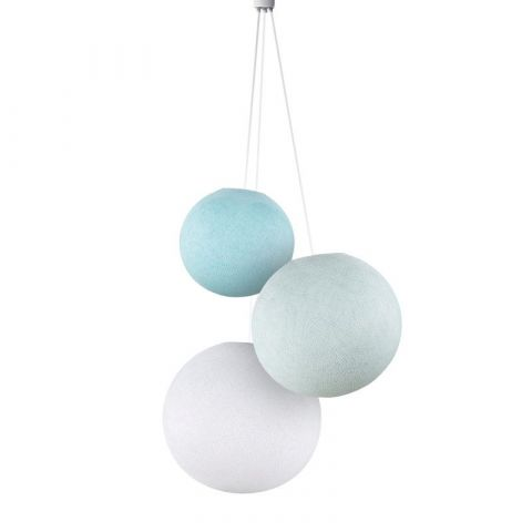 Triple lighting old sky blue-azure-white globes from La Case de Cousin Paul :: Baby Bottega