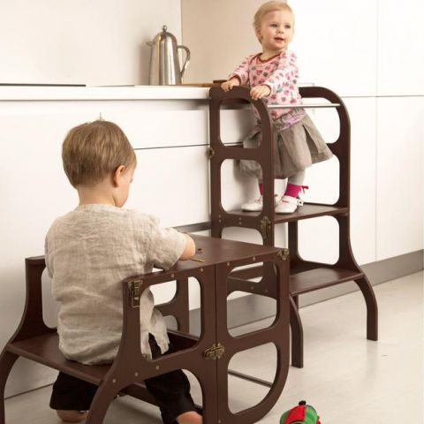 Helper Tower Step'nSit da ette tete :: Montessori :: Baby Bottega