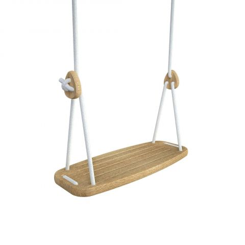 Lillagunga Classic Oak Swing in white :: Indoor Playground :: Baby Bottega